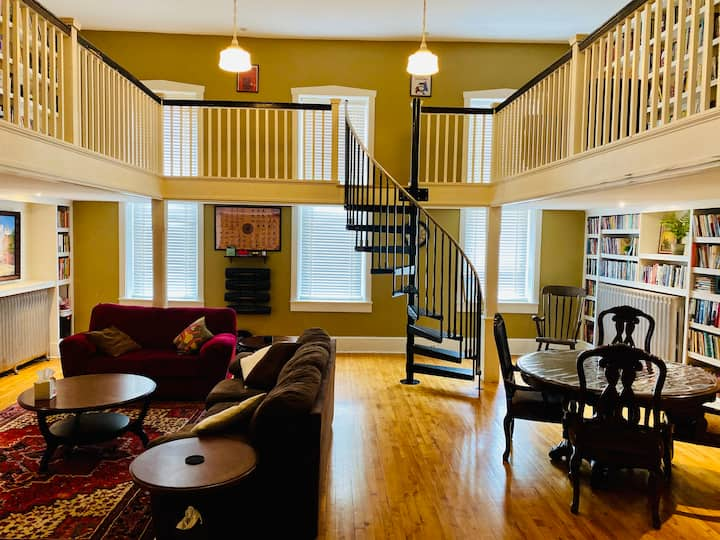 The Etown Firehouse Library Apartment