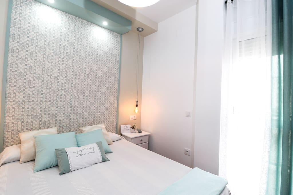 Habitación Principal, cama de 1,50 cm, aire acondicionado
