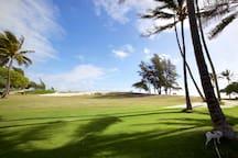 Kailua Beach Park, only steps away...