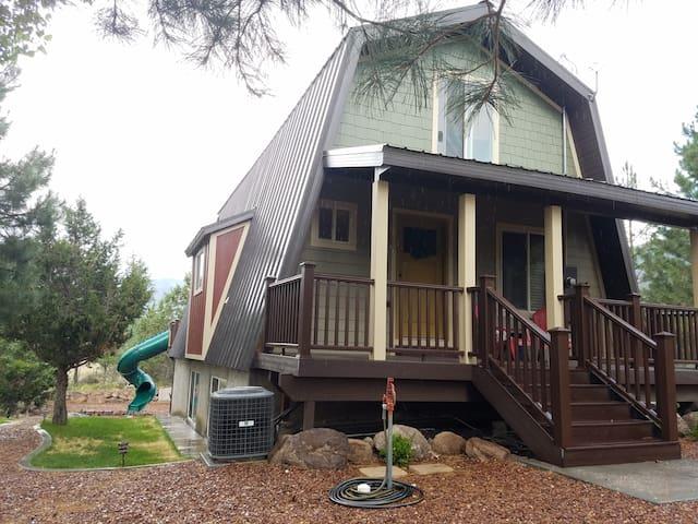 Front left side of cabin