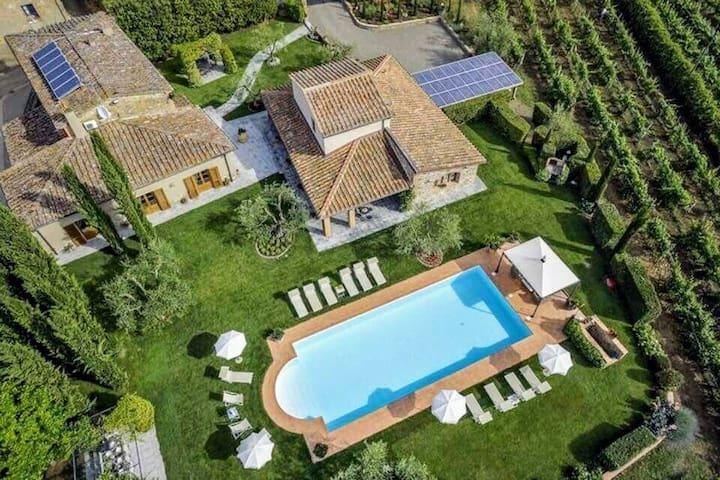 Villa Tontenano Capannole Chianti private pool 12 - Bucine - Villa