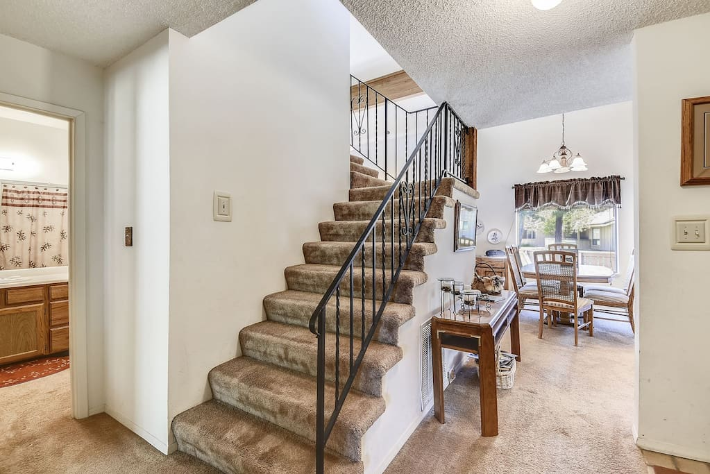 Entry Foyer and Stairs to Loft