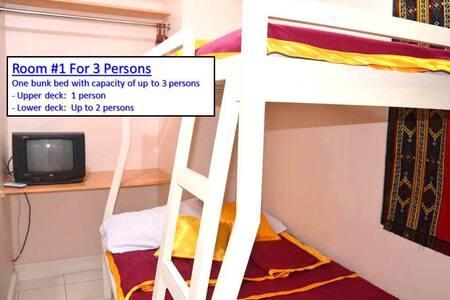 Budget Room for 3 in City Proper/Condo 103-1/Fiber