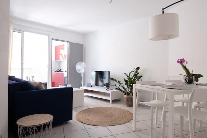 Appartement à Canet, T2 de 38m2 à 50 m de la plage