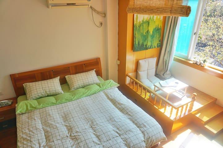 沈家门码头旁格林小屋,温暖清新大床房,沈家门港漫步、半升洞乘船的不二之选 - Zhoushan Shi - Bed & Breakfast