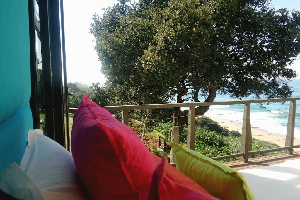 Sea view from King size bed