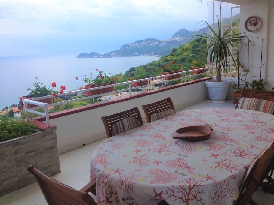 Main Terrace overlooking Taormina bay