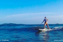 Surfing in Weligama