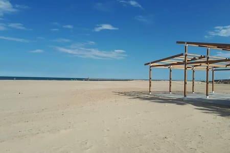 Maison 8 personnes 1km plage sable fin + parking