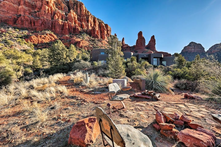 Chic Sedona Studio on Chapel Trail w/Radiant Views