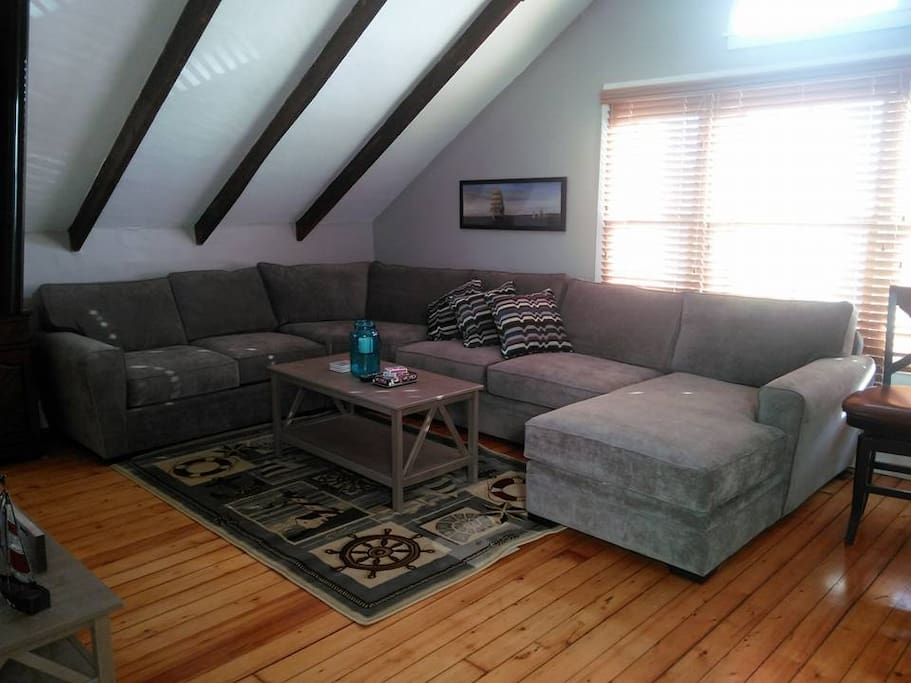 Huge sectional couch - comfortable seating for the whole family