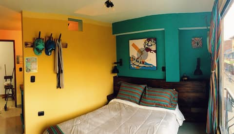 🌱TiKi Lounge🌱 Studio Apartment, Center of Guatape