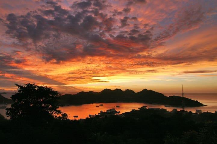 Sunset view from Villa Seirama Alam