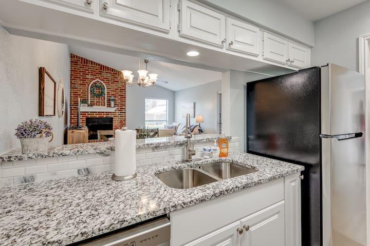 Newly updated, modern kitchen