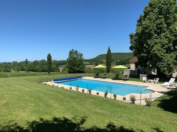 Gîte de charme en Quercy Blanc, vue exceptionnelle