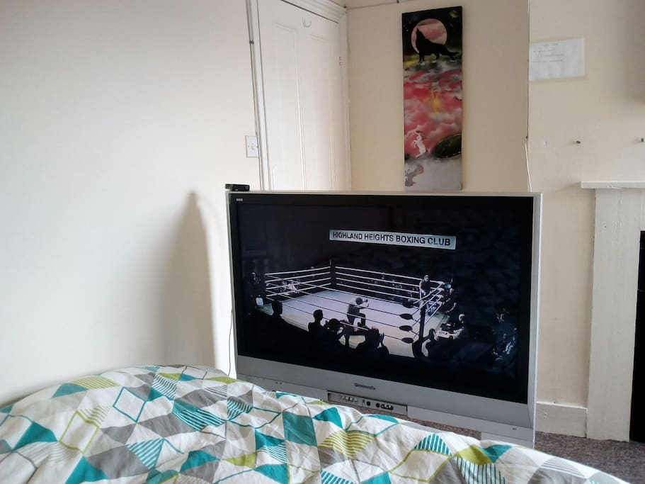 Lovely big TV watch films on included
