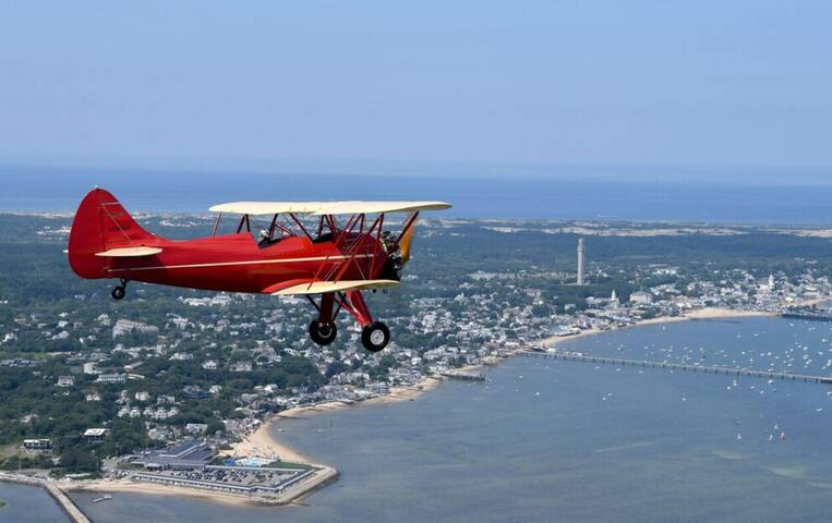 The discount card gives you discounts on bi-plane rides over Provincetown Harbor and Cape Cod National Seashore.