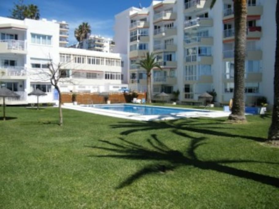 Communal gardens and pool