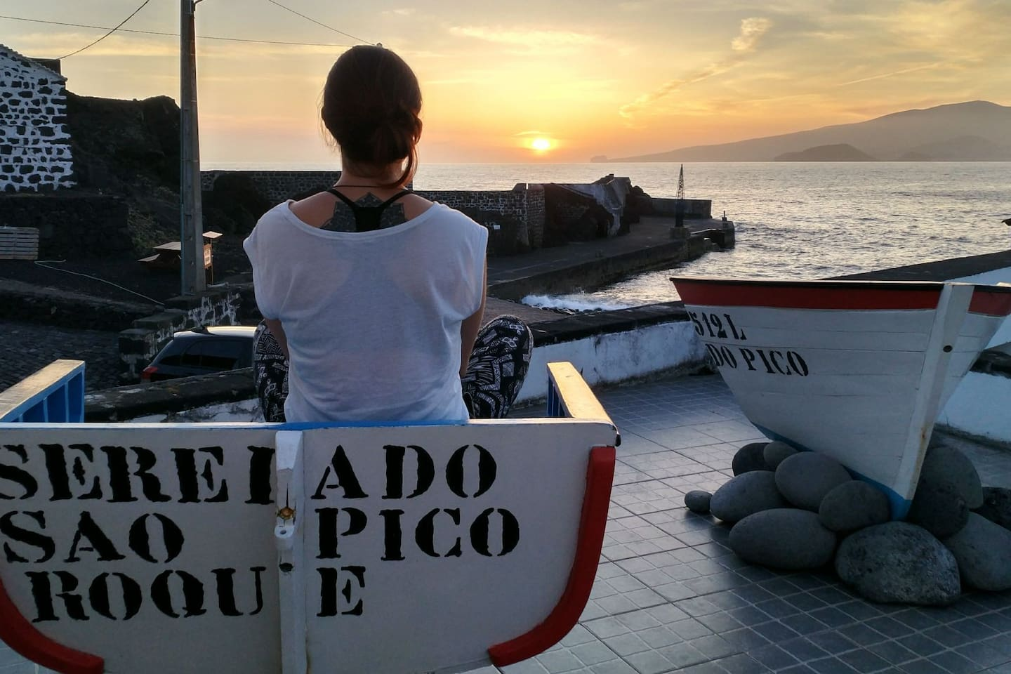 "Enjoy the view and your drink, on board of ""Pico Mermaid""!"