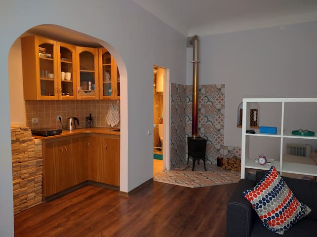 Studio apartment with fire place - Rīga