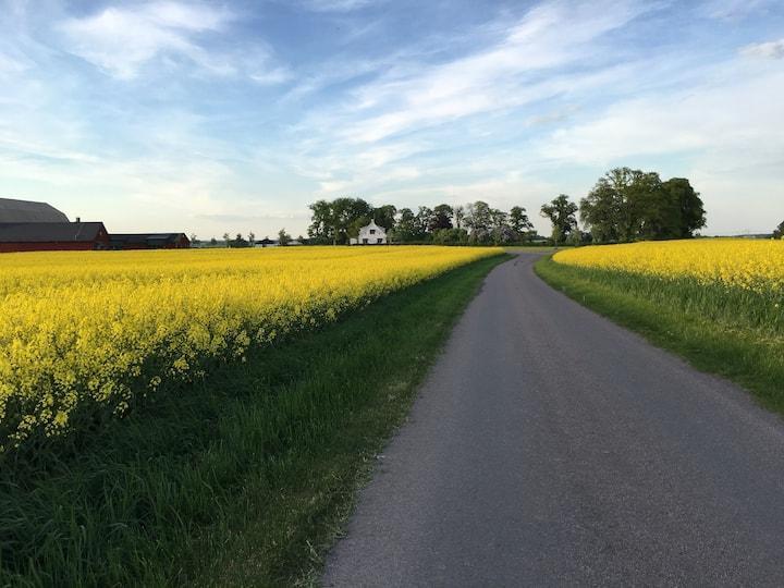 Private house with bicycle distance to Vadstena