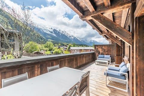 Grand Paradis B14 - Modern with Mont Blanc view