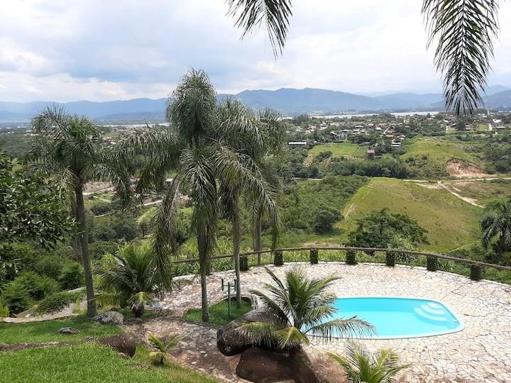 Casa das Palmeira c/ piscina e vista (por do Sol)