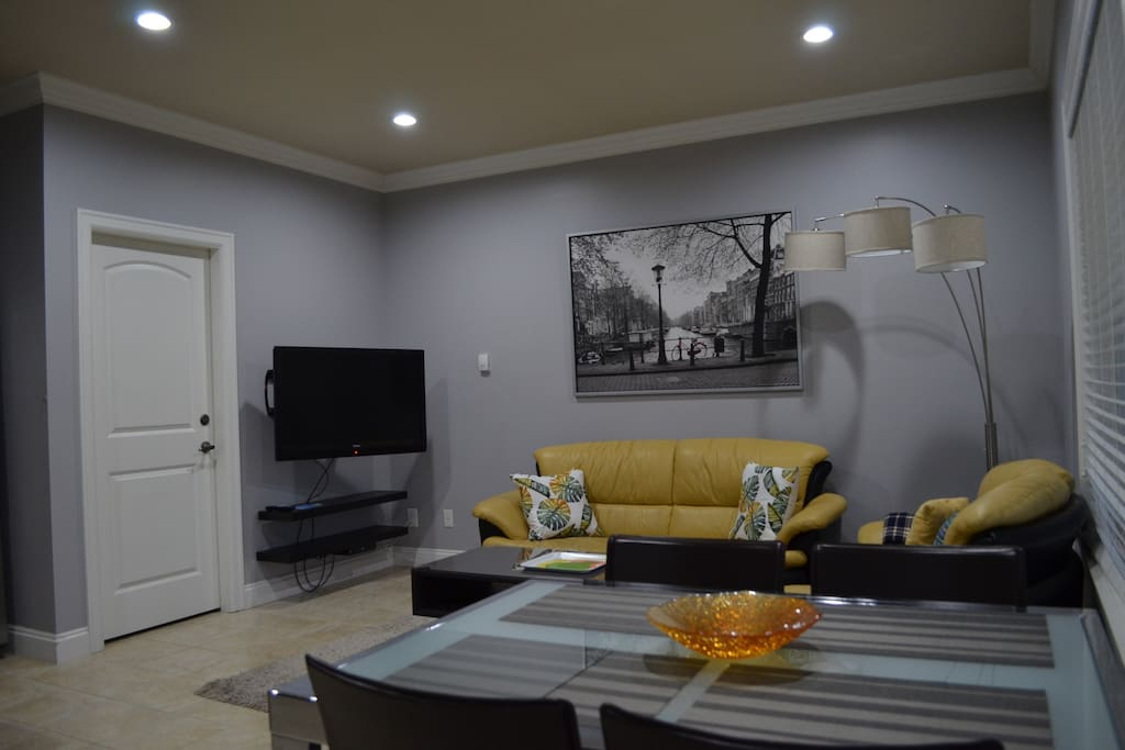 Living room-dining area-sitting area