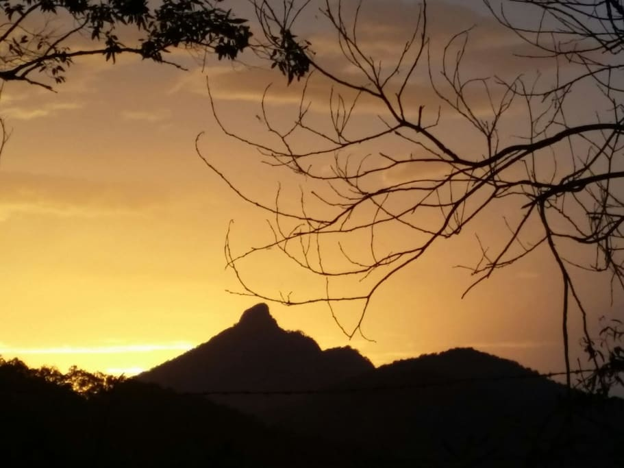 Five minutes drive to a stunning Wollumbin sunset!