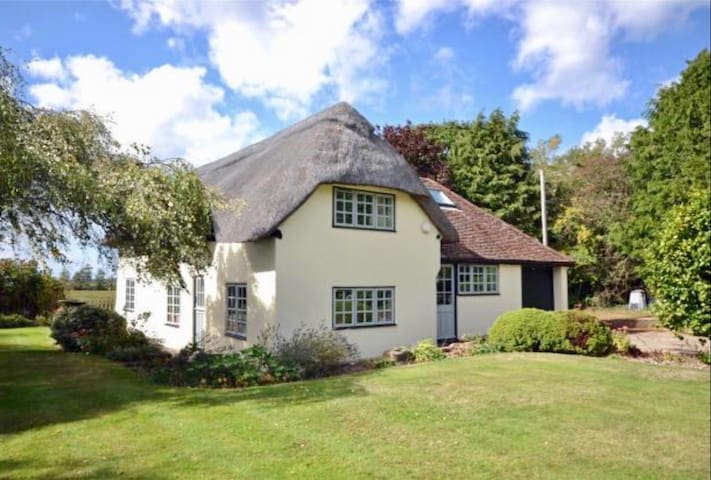 Stunning & very private New Forest thatch cottage.