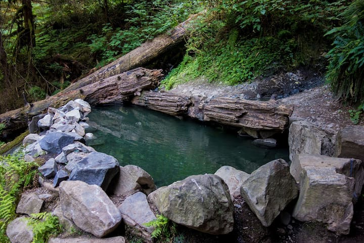 Must Do: Bike-pack to Olympic Hot Springs in the National Park.