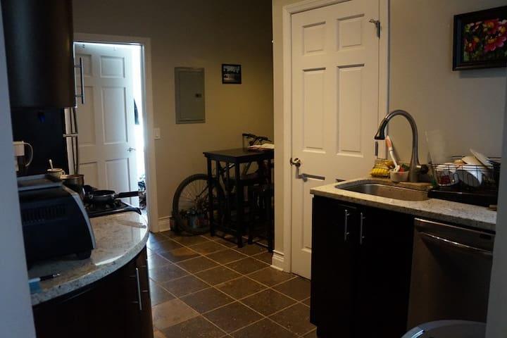 Kitchen (the slightly open door leads to your bedroom)