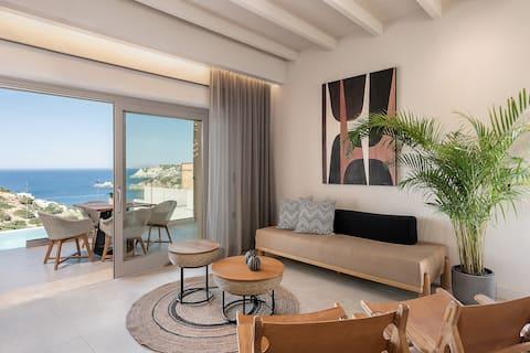 Nueva villa vacacional con piscina privada, cerca de la playa