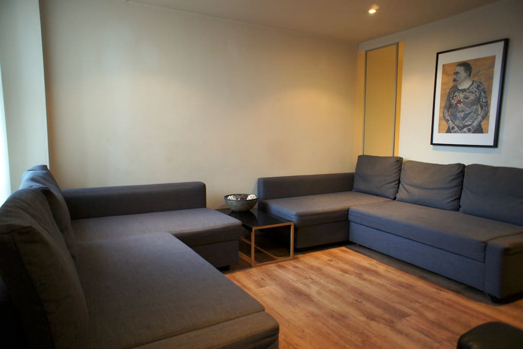 Here's your Living Room with Two Double Sofa-Beds