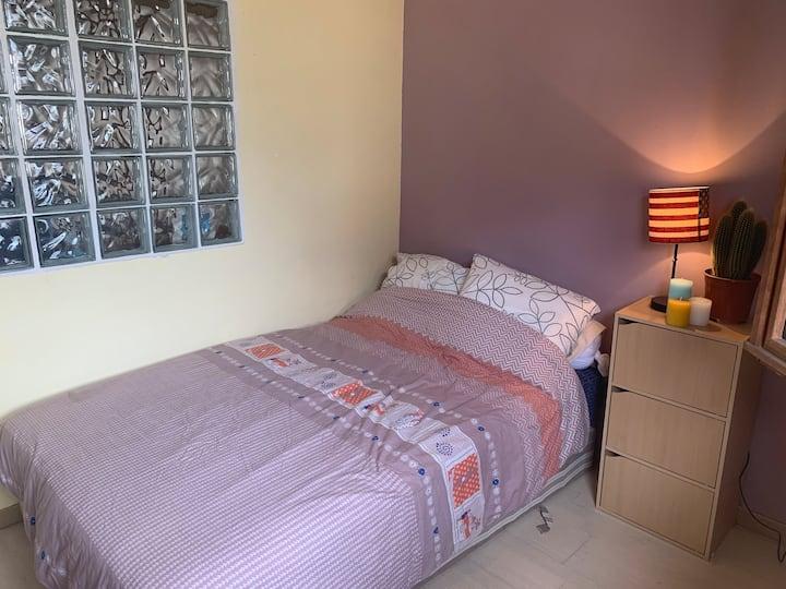 Bright Bedroom for Short Stays