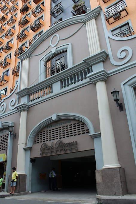 The building entrance