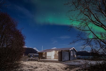 Cozy cabbin by the sea, under the Norten Lights