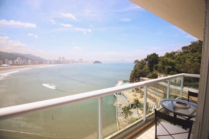 Vista livre para o mar em São Vicente-SP