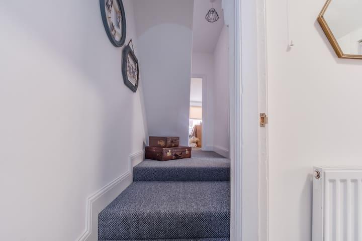 Lower hallway.