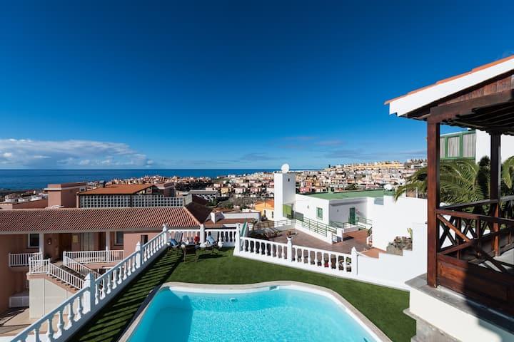 Luxus Villa Panorama,en vakker bolig i Arguineguin