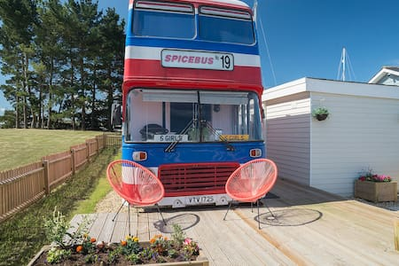 The original Spice Bus from 1997 movie Spice World