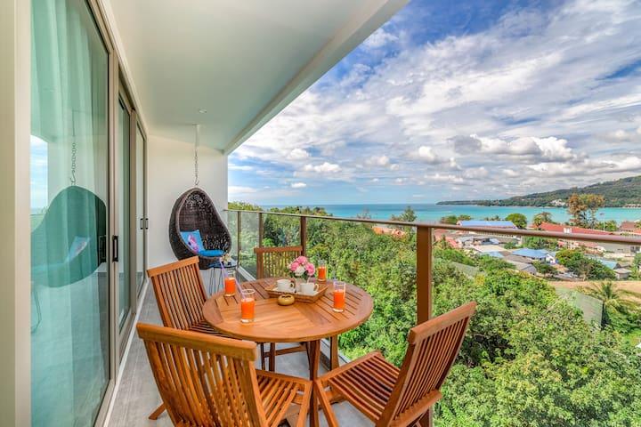 Charming Seaview 1 Bedroom Apartment @Kamala-600m