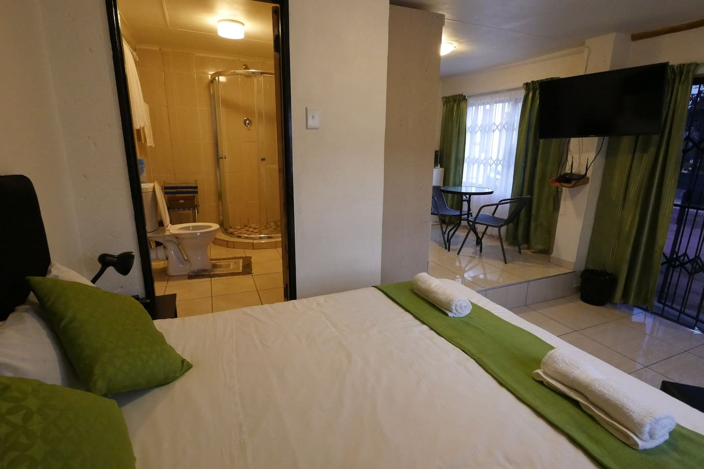 The inside of the accommodation
