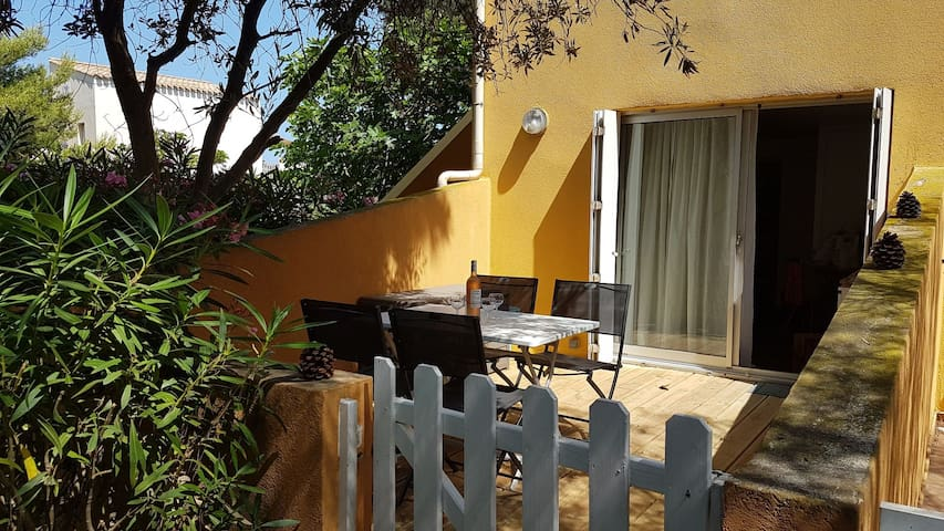 Cap d'Agde, studio 4 pers, plage Roquille, wifi