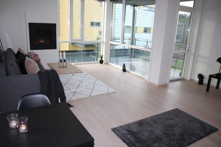 Lys, luftig, lekker og moderne leilighet