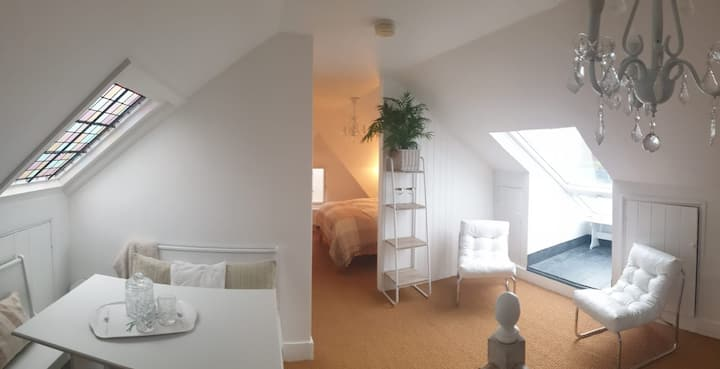 Self Contained Rooftop Loft with Private Balcony