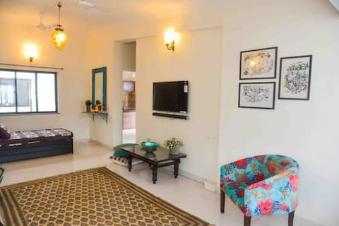 Charming one bedroom apartment Near Candolim beach