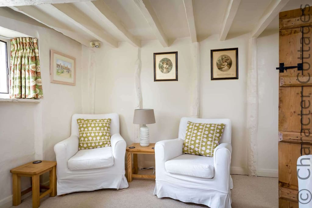 The cottage is full of traditional character