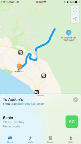 6 min Drive to Diamond Peak Ski Resort