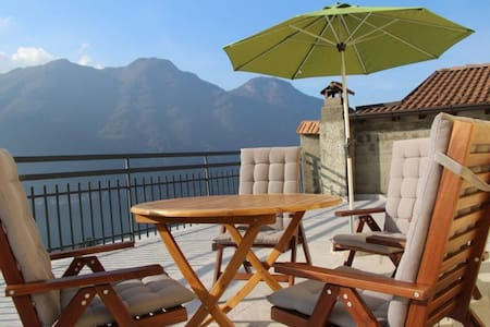 Casa La Perla on lake Como with spectacular views - Nesso - Apartamento